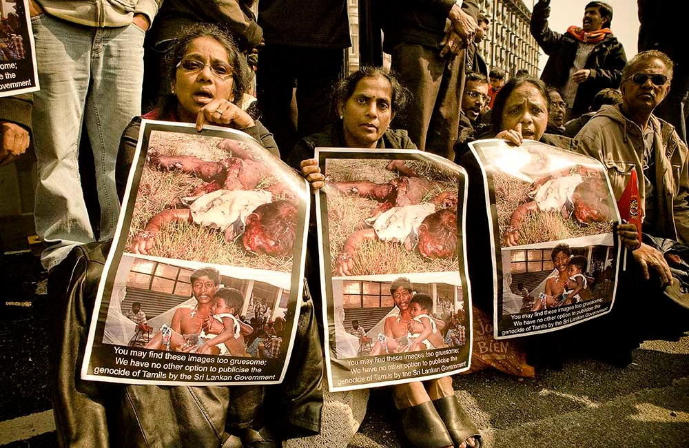 TAMIL´S STRIKE AGAINST VIOLENCE IN SIR LANKA`S MASSACRE