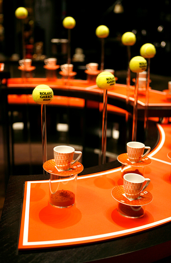 Nespresso Boutique. Paris. Rolland Garros Edition. Paris.
