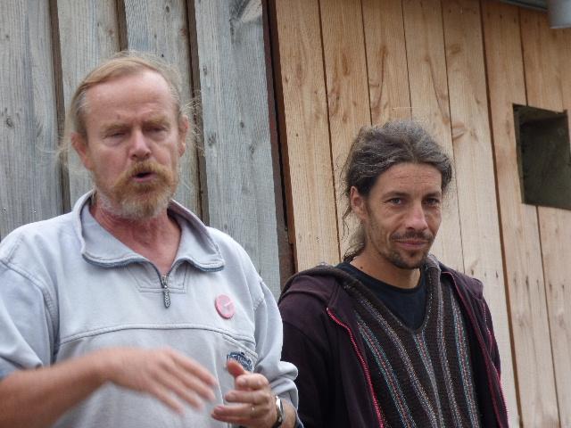 Wilfried nous a accueillis à la ferme du Bois Landelle. MERCI !