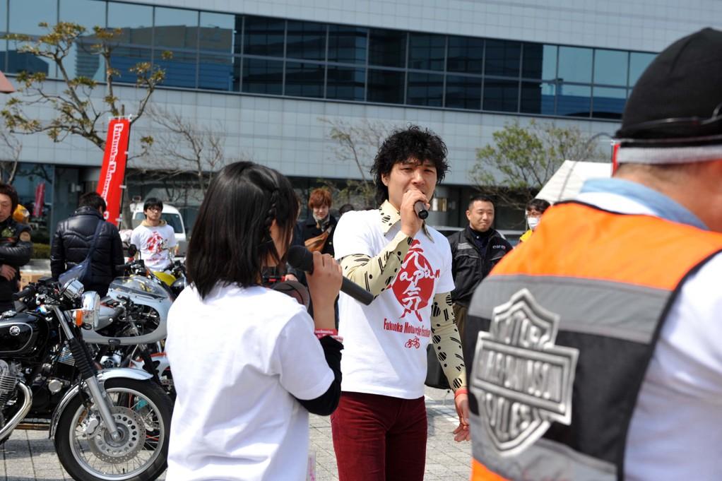 メインMCは、Dガレージの大ちゃんですっ!バイク屋さんとは思えない名MCぶりです!
