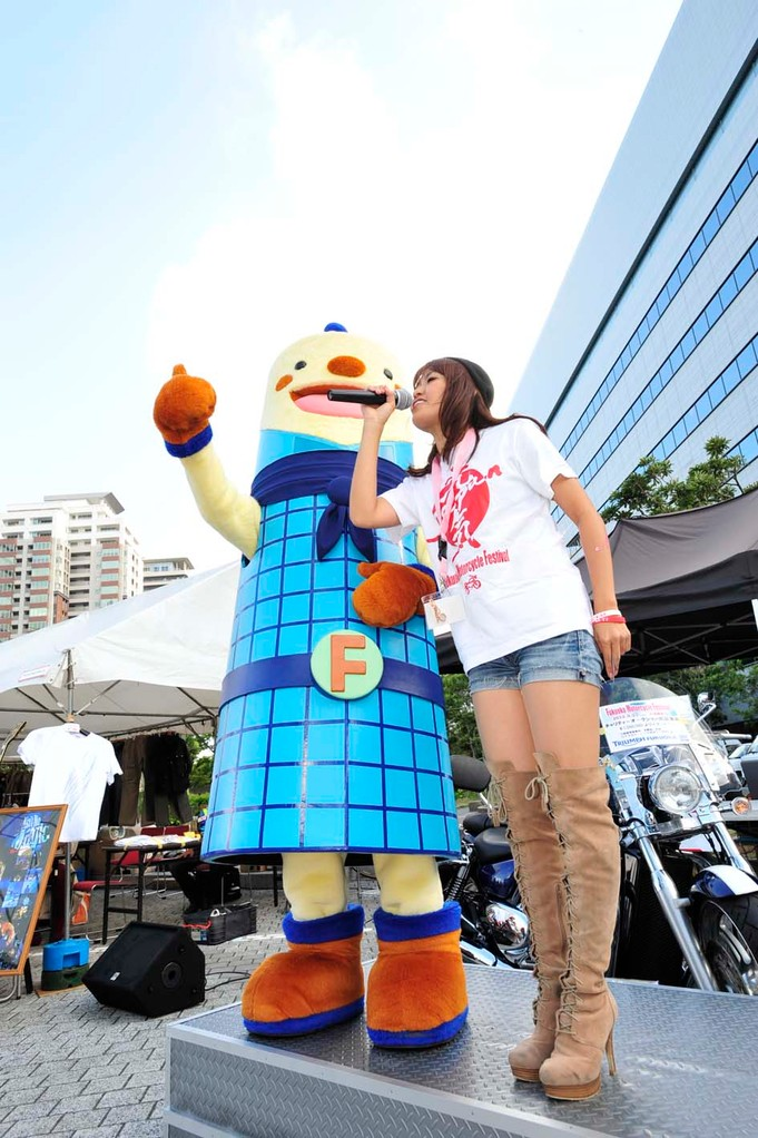 福岡タワーのキャラクター・フータくんも会場に遊びに来てくれました~(^^ゞ