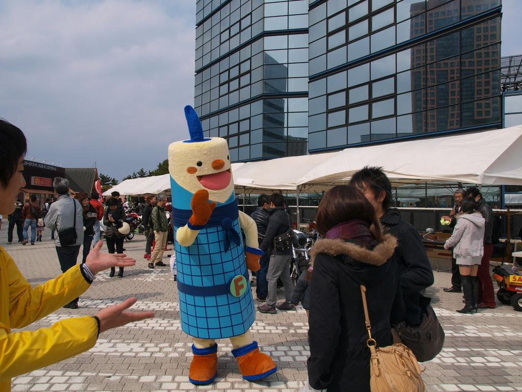 福岡タワーのキャラクター「フータ」くんも飛び入り参加で盛り上げてくれました~(^^♪
