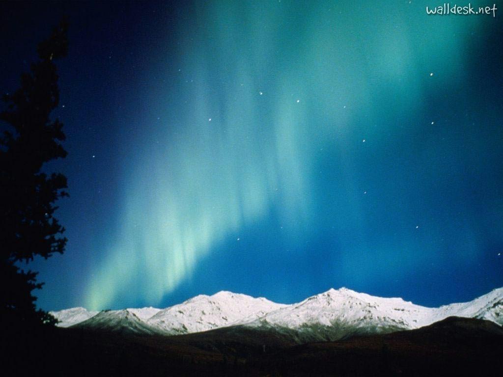 Aurora polar vista no Alaska.