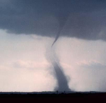Tornado pela metade.