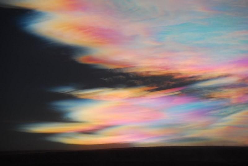 Nuvens nacaradas (foto de Chris).