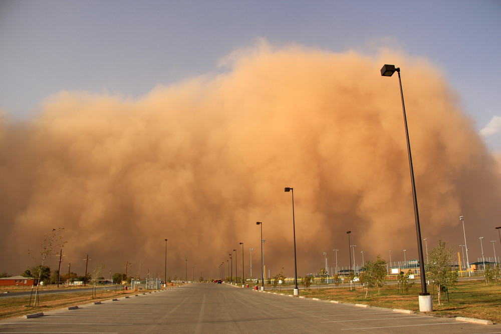 Tempestade de areia.
