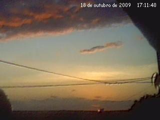 Pôr do Sol em 18/10/2009.