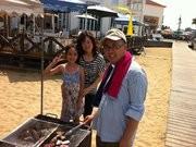 2011年8月夫と娘のファンファンと