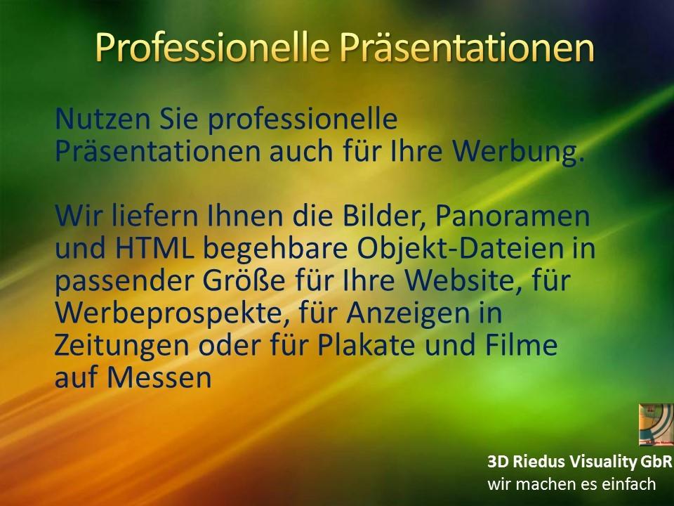 3D Riedus Visuality GbR # 6 Professionelle Präsentationen