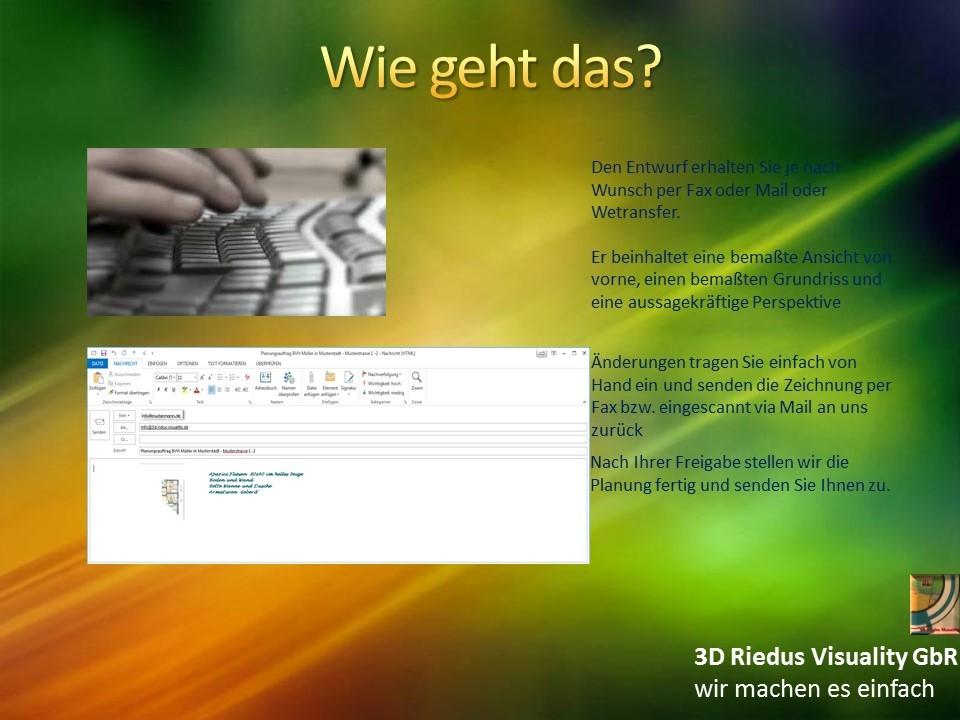 3D Riedus Visuality GbR # 9 Wie geht das?