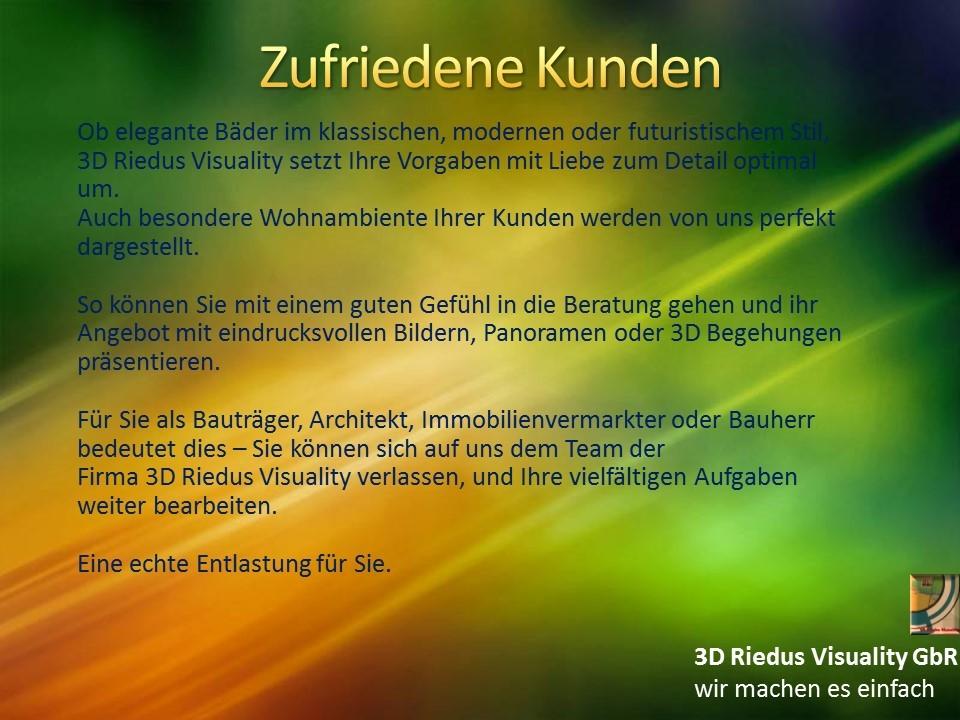 3D Riedus Visuality GbR # 7 Zufriedene Kunden