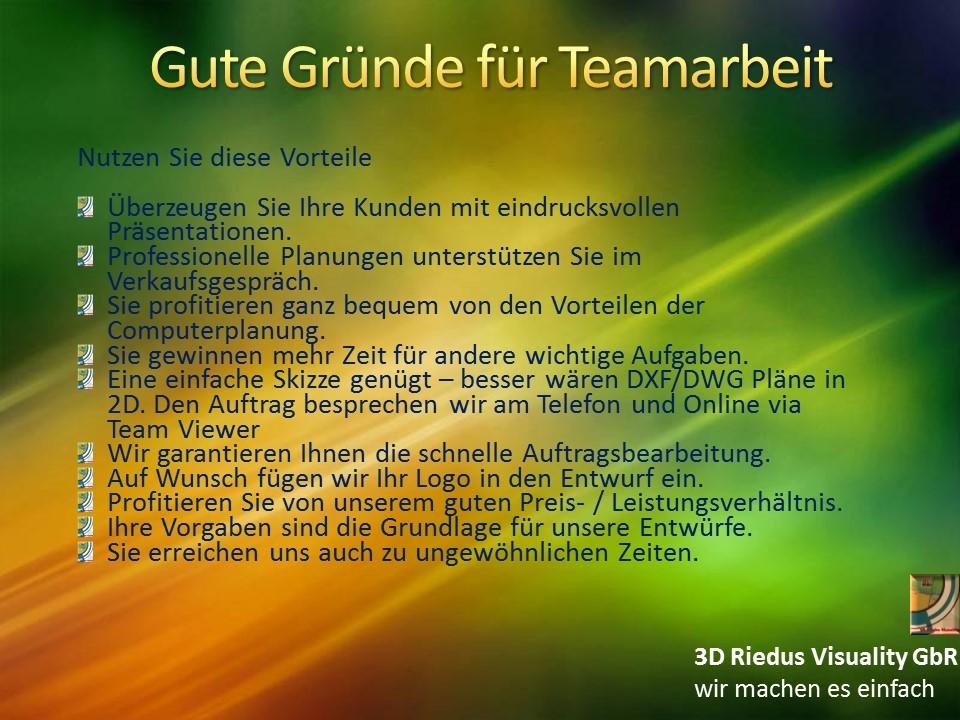 3D Riedus Visuality GbR # 5 Gute Gründe für Teamarbeit