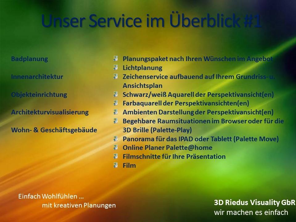 3D Riedus Visuality GbR # 16 Unser Service im Überblick #1