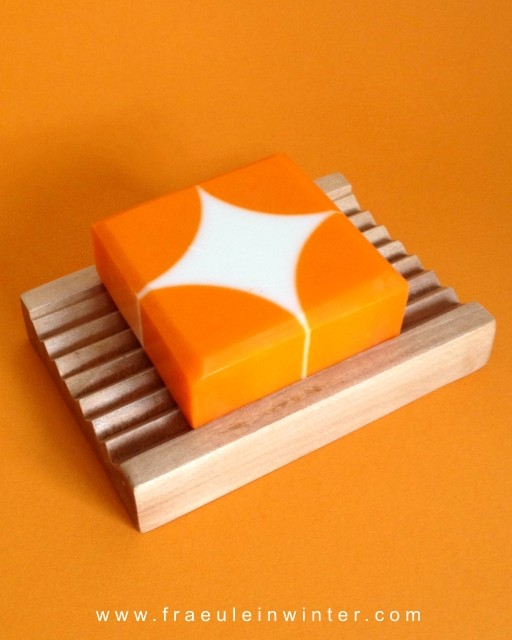 Geometrisches Muster - handgemachte Seife - cold process soap - geometric pattern
