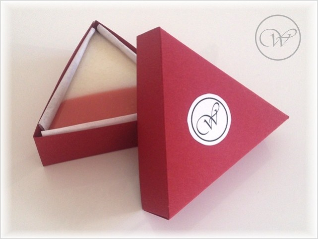 "Seife ""Tea Rose"" - Verpackung - equilateral soap - packaging"