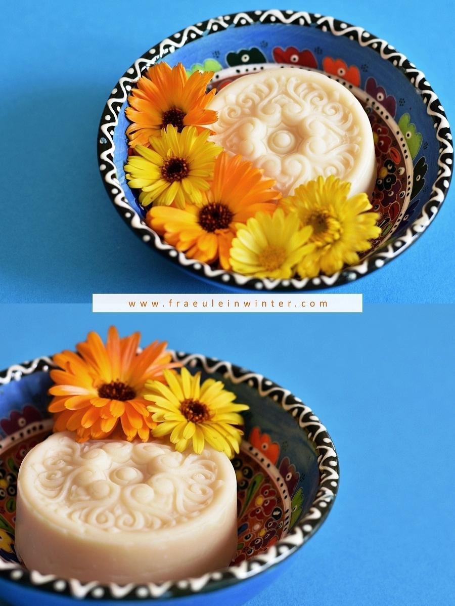 Seife mit Ringelblumen | Fräulein Winter