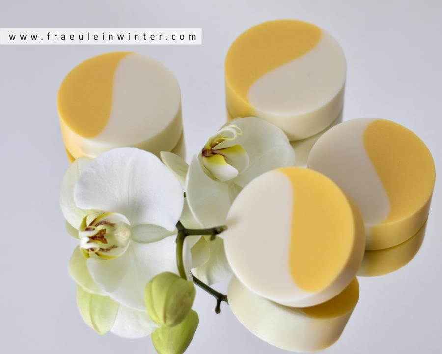 Eine Seife in Harmonie mit wunderschönem Yin-Yang-Muster | Handmade Soap by Fraeulein Winter