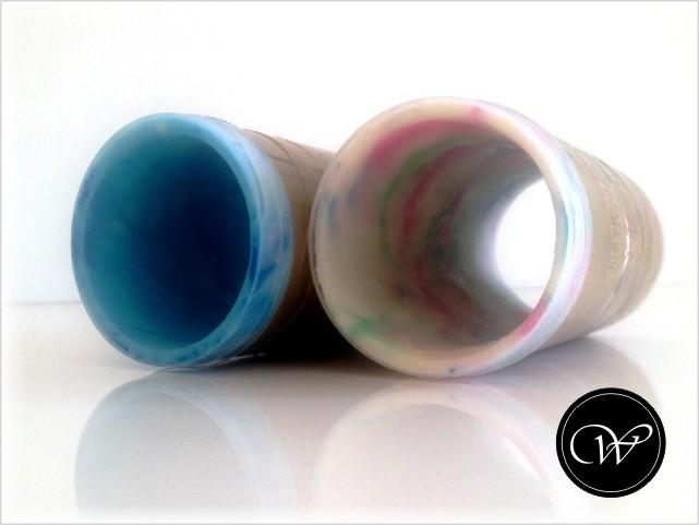 CP-Hülle: Seifenplatten-Rolle ins Rohr schieben und Nahtstelle gut festdrücken.