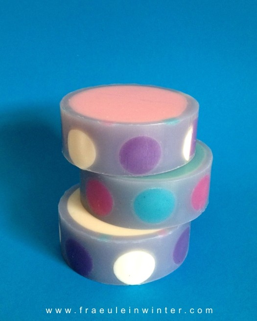 """Dots"" - CP-rimmed soap."