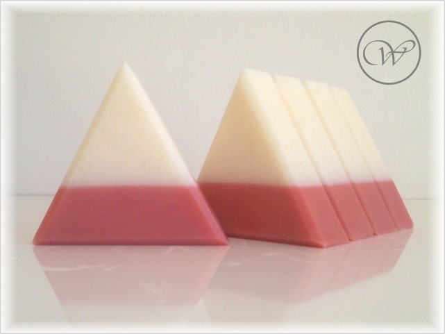 "Seife ""Tea Rose"" - equilateral soap - triangle"