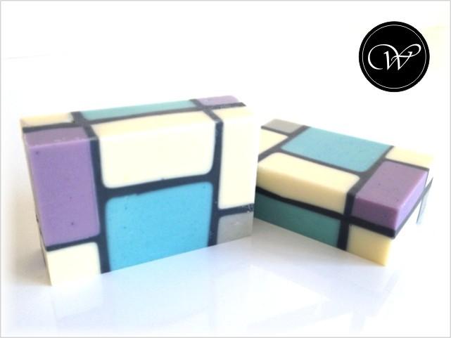 """Seife """"Mondrian"""" ... in Pastelltönen"""