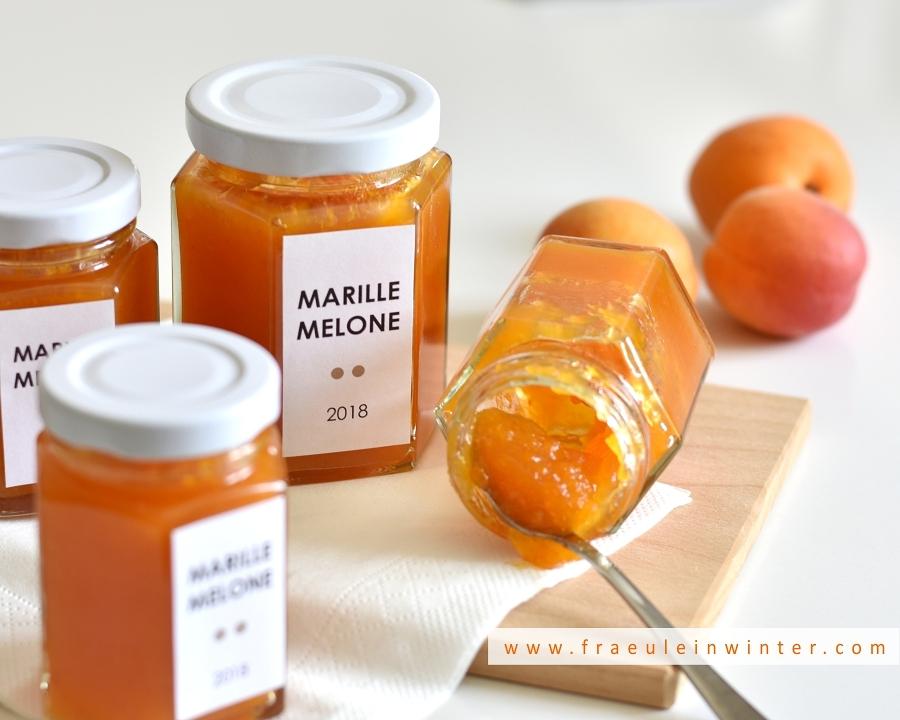 Marillenmarmelade mit Zuckermelone | Fräulein Winter