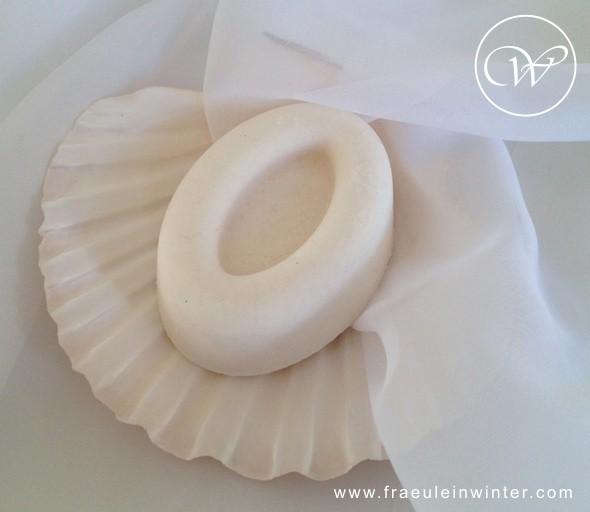 Handgemachte Seife mit Meersalz.