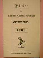 Liederheft 1884