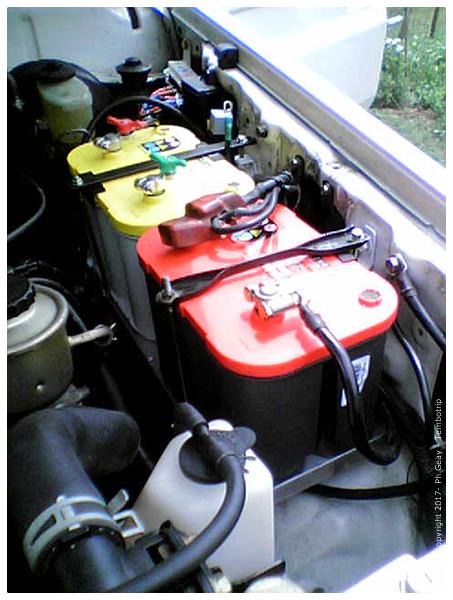 Double batterie gel  moteur& accessoires