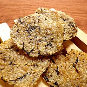 玄米とヒジキの簡単煎餅