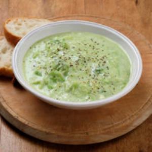 アボカドとキャベツの豆乳スープ