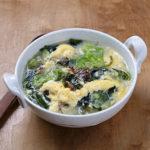海藻ミックスのごま風味スープ