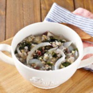 海藻ミックスと雑穀のスープ