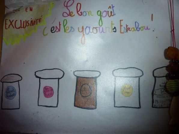 Les enfants assurent la meilleure publicité pour les yaourts.