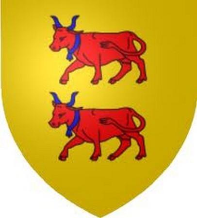 La vache béarnaise orne le blason du Béarn. De 140000 têtes en 1938, le cheptel est tombé à 250 mères aujourd'hui.