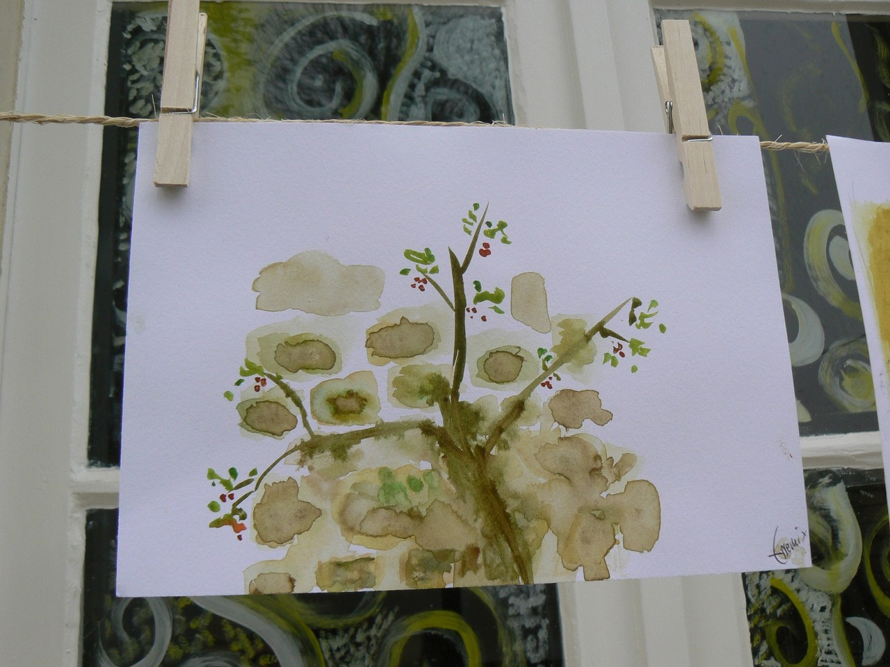 Dessin de l'atelier entre 'pierres et plantes', Vertheuil