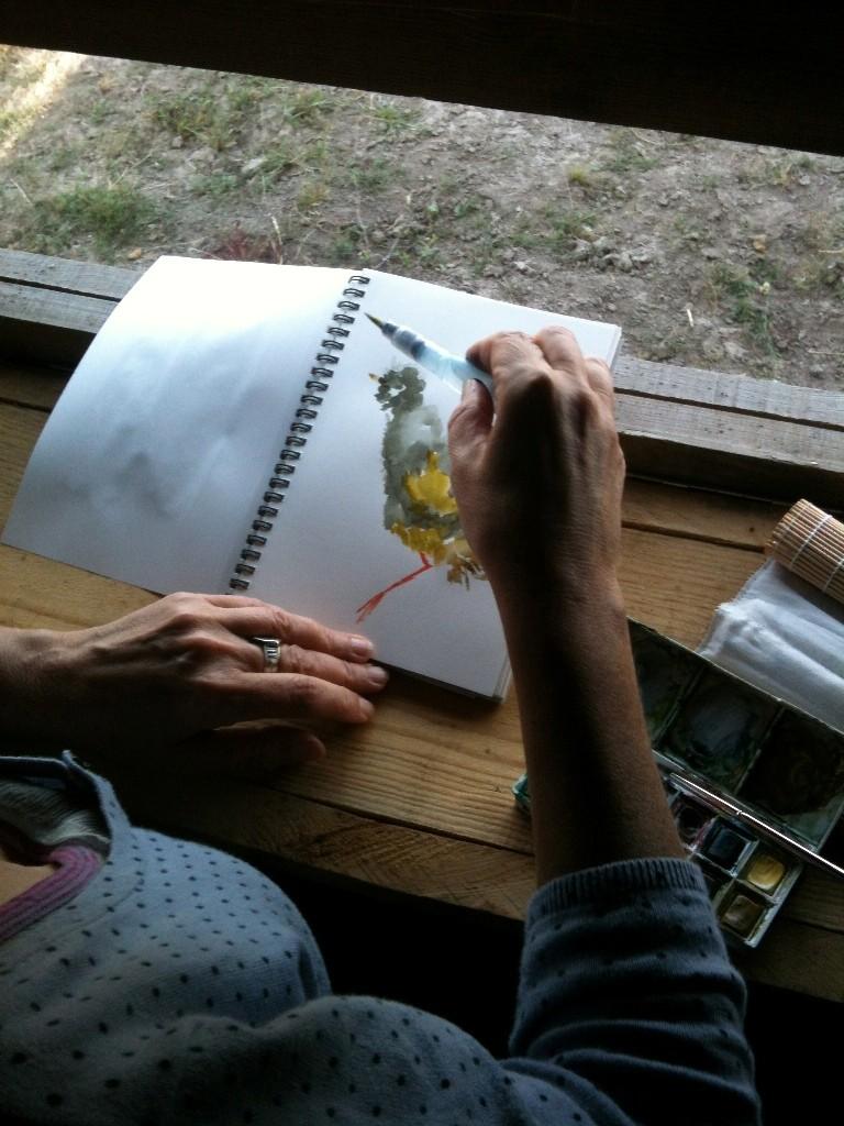 Atelier Carnet de voyage à Terres d'oiseaux
