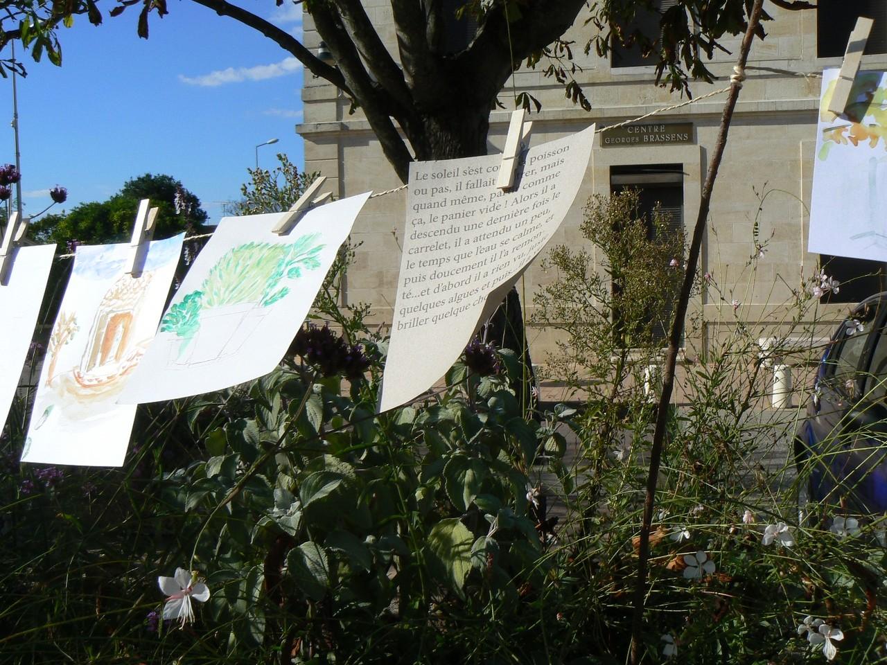 Exposition des dessins au milieu des fleurs, Ambès
