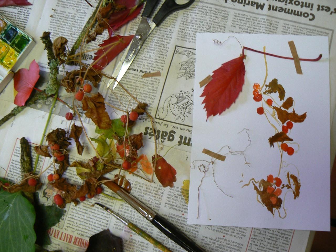 Récolte en couleur, atelier Carnet de voyage, Villandraut