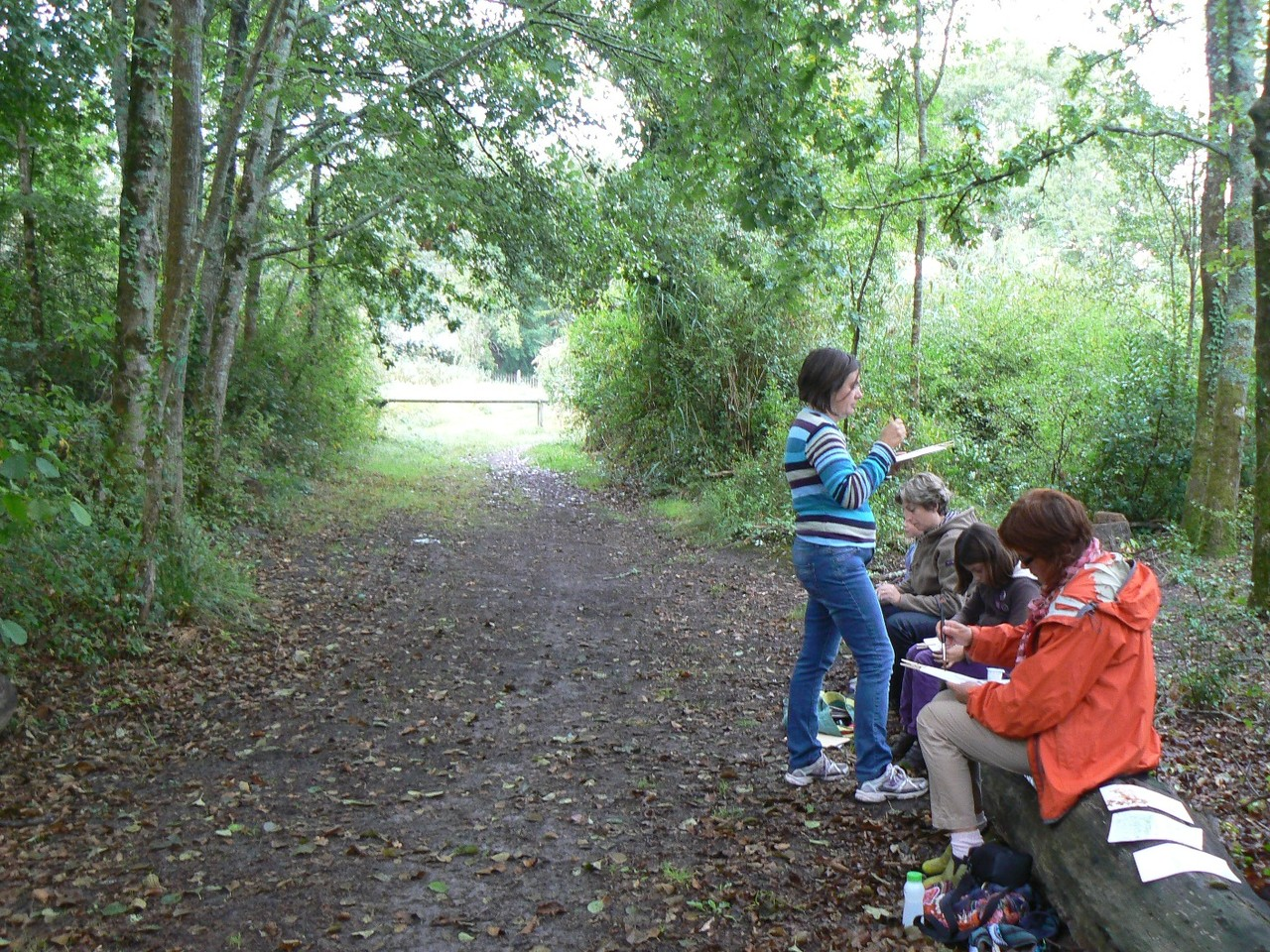 Atelier Carnet de voyage dans les bois du littoral, Lanton