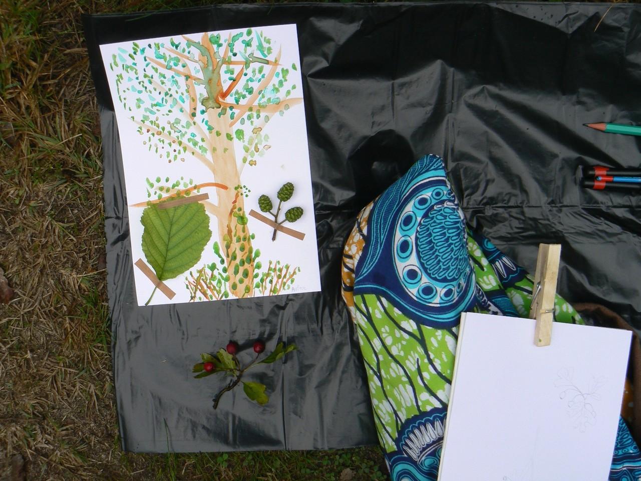 Dessin d'arbre réalisé lors de l'atelier, Lanton