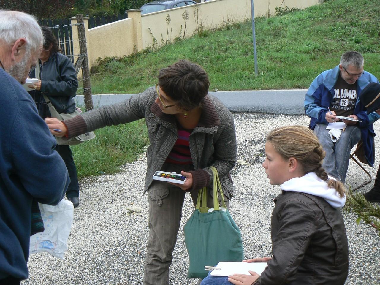 Sophie Bataille, atelier carnet de voyage, Vertheuil