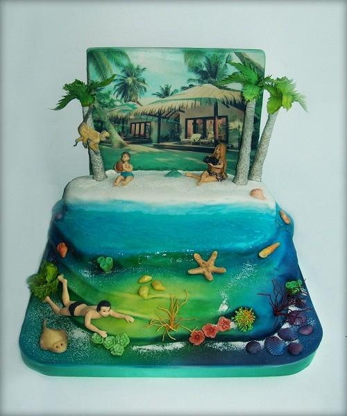 """Торт """"Отдых а Мальдивах"""", 6 кг"""