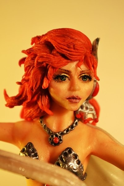 Валькирия (анатомическая лепка) Sugar art miniature sculpture