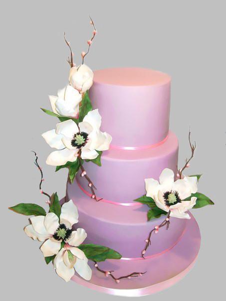 """Свадебный торт """"Магнолии"""", 13 кг"""