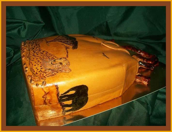 """Торт-сумка """"Закат в Сафари"""""""
