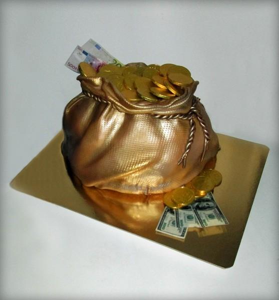 """Торт """"Мешок денег"""", 3,6 кг"""
