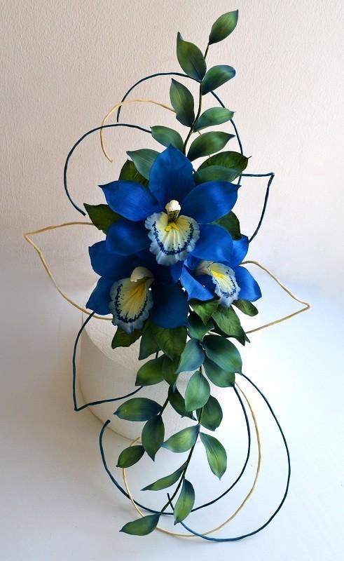 "Сахарная композиция с орхидеями ""Цимбидиум"""