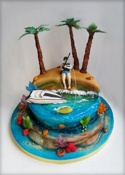 """Торт """"Любителю экзотической рыбалки""""))), 4 кг"""