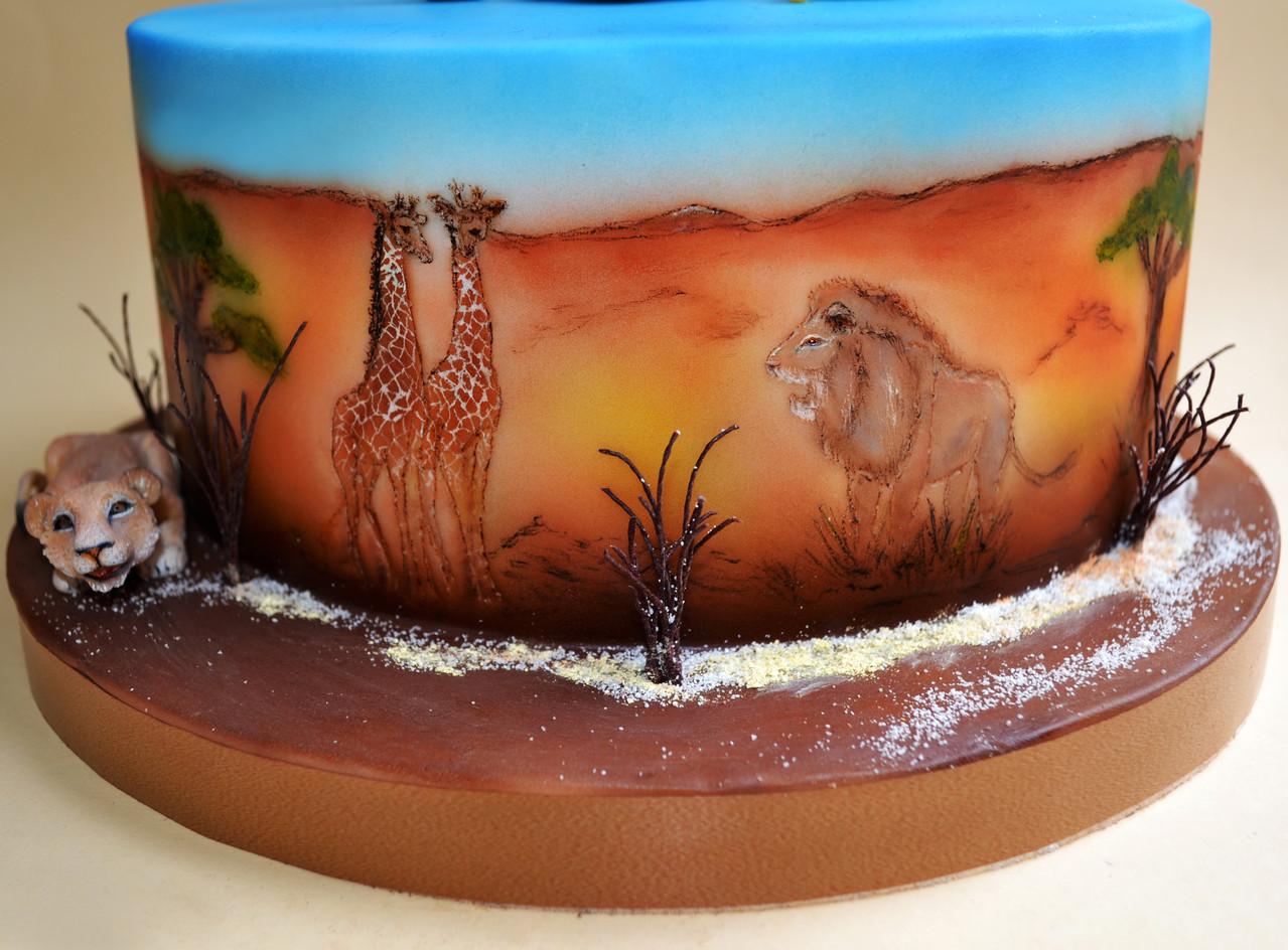 Аэрография и реалистичная лепка животных Sugar art miniature sculpture